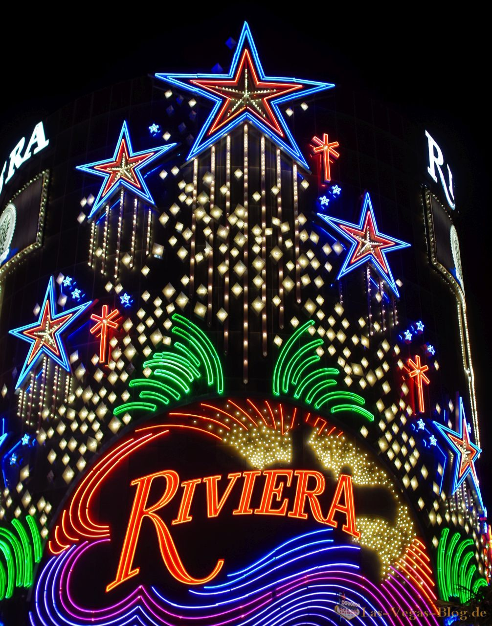 Flamingo hotel las vegas bei nacht aus dem heliopter - Riviera Hotel Las Vegas Beleuchtung